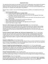 Argumentative Essay Assignment Fall 16 Thesis Brainstorming