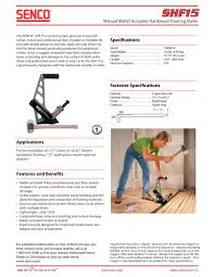 shf15 2 manual mallet actuated hardwood flooring nailer 1 1 pages
