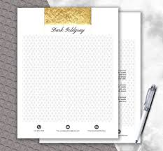 Luxury Letterhead Template   Diy Stationery   Gold Stationery Paper ...