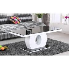 heartlands colette 4 drawer coffee table in high white gloss