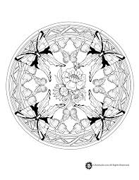 Animal Mandala Coloring Pages Butterfly Mandala Coloring Page