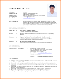 11 Performa Of Job Cv Address Example