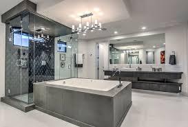 walk in shower lighting. Contemporary Master Bathroom With Dark Tile Walk-in Shower And Enclosed Bathtub Walk In Lighting