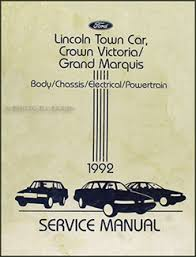 lincoln town car factory foldout wiring diagram original related items