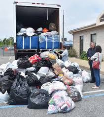 parishioners of saint bernard s rose to the occasion in a big way in bringing in te clothing to the re wearable clothing drive sponsored by acld