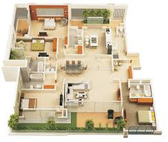 Small One Bedroom Homes 4 Bedroom 3 Bath House Plans Images