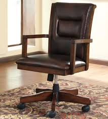 wooden swivel desk chair. Wood Swivel Office Chair With Casters Wooden Desk