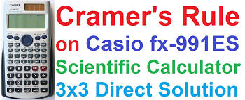 cramer s rule solving 3x3 linear equations on casio fx 991es scientific calculator shortcut trick you