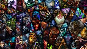 dota 2 background incorporating the 107 heroes currently released
