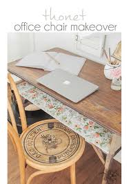 office chair makeover. Add Custom Decal/stencil To Chair Seat Using Silhouette Machine - Thonet Office Makeover E