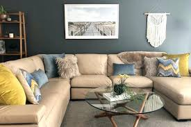 full size of brown leather couch with blue pillows light chocolate sofa what colour cushions for