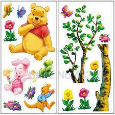 cartoon winnie pooh vinyl  cartoon animal winnie pooh vinyl wall stickers for kids rooms boys gi