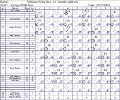 Baseball Score Book Pages Pointstreak K Force Pc Screen Images