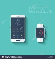 Smartwatch App Design Health App Graphic User Interface Medical Fitness Tracker