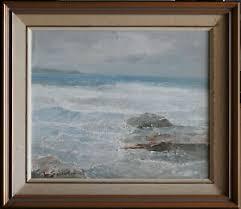 Lance Solomon (1913-89) Original Oil Painting Rough Waters ...