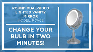 how to zadro z beauty lighted vanity mirror bulb replacement