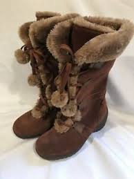 Sporto Meagan Brown Suede Faux Fur Suede Lace Up Boots 6 1/2 Wide | eBay