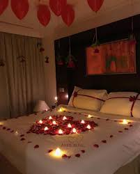 Room Decoration For Wedding Night With Lights Pin By Kaiya Bunting On Anniversary Romantic Room