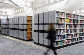 coventry university library lanchester mobile shelving system coventry university library lanchester magenta fronts
