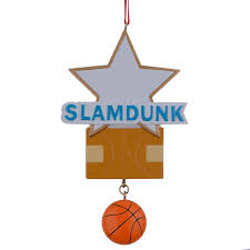 Slamdunk Basketball Star Resin Personalized Sports Christmas Ornaments as  Handcraft Souvenir for player or fans holiday gifts