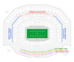Nfl Super Bowl Seating Chart Super Bowl 50 Suites For Rent Suite Experience Group