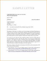 Certify Letter Sample Business Letter Format Sent Via Certified Mail