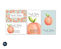 Peach Business Cards Peach Baby Peach Branding Psd Etsy