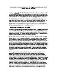 describe how macbeths decision to kill king duncan has brought  page 1 zoom in