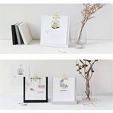 creative desk calendar. Exellent Creative Caveen Standing Desk Calendar 2018 With Metal Clip Monthly Desktop Agenda  Planner Creative Elegant To C