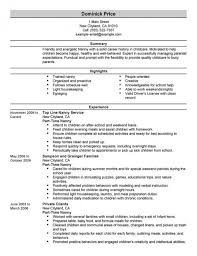 Resume With References Resume Examples Nanny