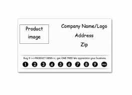 Product Line Card Template 30 Printable Punch Reward Card Templates 101 Free