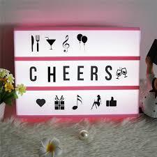 fancy led night lamp cinematic light box battery power supply cinema light for wedding decorative child