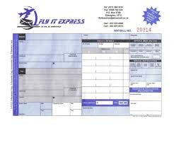 fly it express solutions view a sample waybill