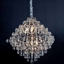 amos chandelier d64cm clear silver
