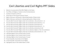 bill of rights ppt selective incorporation of the bill of rights to the states ppt