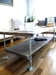 Reclaimed Wood and Pipe Coffee Table Awesome Galvanized Pipe Furniture   Upsite
