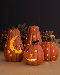 Glowing Halloween Pumpkins, Set of 2 Main