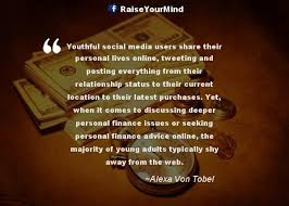 Finance Quotes Sayings Youthful Social Media Users Share