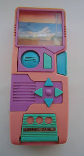 Automatic Pencil Case.80s.With two screen views Childhood