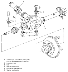 repair guides front drive axle halfshaft bearing and seal fig