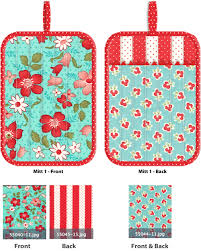 Oven Mitt Pattern Beauteous Kitchen Confections In Moda's Vintage Modern Patchwork Oven Mitts