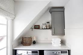 sloped ceiling cabinets. Fine Ceiling Small Laundry Room With Washer And Dryer Under Sloped Ceiling In Cabinets E