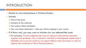 how to write a book review overview of lecture aims of the 17 introduction 61608 similar