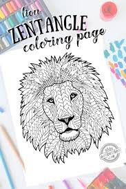 Print zentangle coloring pages for free and color our zentangle coloring! Free Zentangle Lion Pattern Printable Coloring Page