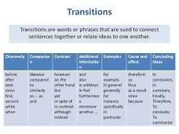 Transition Words Used Cause Effect Essay College Paper