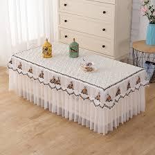 qoo10 coffee table tablecloth cover