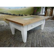 12407 coffee table white glass inlay