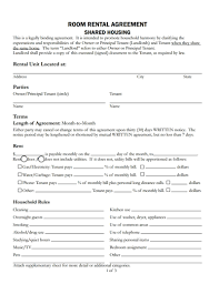 sample rental agreement letter room rental agreement template free download create edit fill