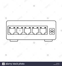 Ethernet Switch Design Ethernet Switch Icon Outline Simple Design With Editable