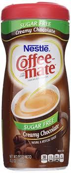 coffee mate sugar free creamy chocolate flavor powdered creamer 10 2 oz case of